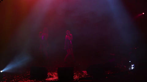 Dancers perform at party - timelapse Stock Video Footage