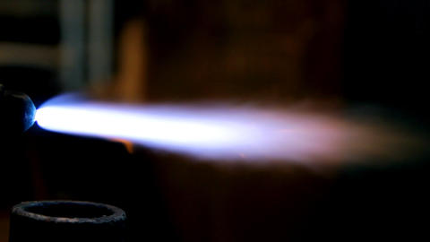 Gas Welding Flame stock footage