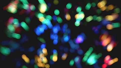 defocused colored circular lights and strips backg Stock Video Footage