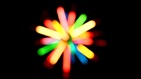 defocused colored circular lights backgrounds Stock Video Footage