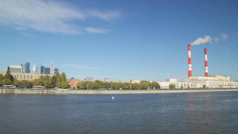Novodevichy embankment hyperlapse Stock Video Footage