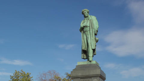 Pushkin monument hyperlapse Footage
