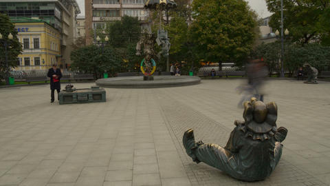 Clowns monument hyperlapse Stock Video Footage