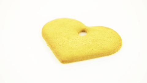 Heart shape cookie Footage