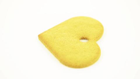 Heart shape cookie Stock Video Footage