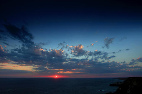 4K. Timelapse sunset in the mountains. Cape Fiolen Stock Video Footage