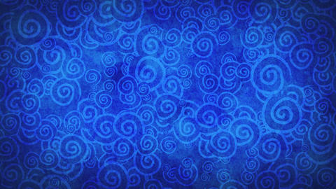 blue curles ornatment loop background Stock Video Footage