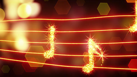 musical notes loopable background Stock Video Footage