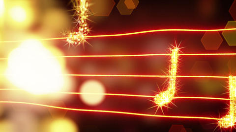 musical notes loopable background Animation