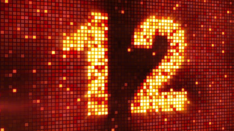 countdown from 30 flashing elements Stock Video Footage