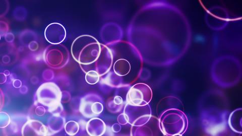 glowing blue circle lights seamless loop backgroun Animation