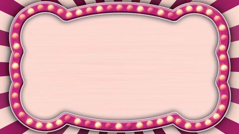 flash light pink marquee loop Stock Video Footage