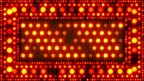orange glittering light bulbs loopable background Stock Video Footage