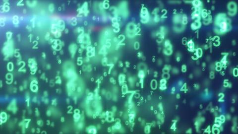 green digital world 10.00-20.00 loop Stock Video Footage