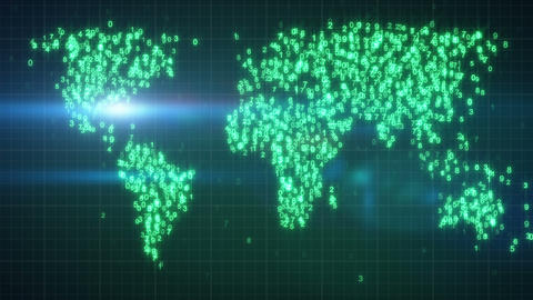 Green Digital World 10.00-20.00 Loop stock footage