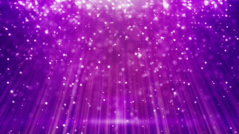 magenta flying particles in light beams loop Stock Video Footage