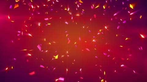 red shiny confetti background loop Stock Video Footage