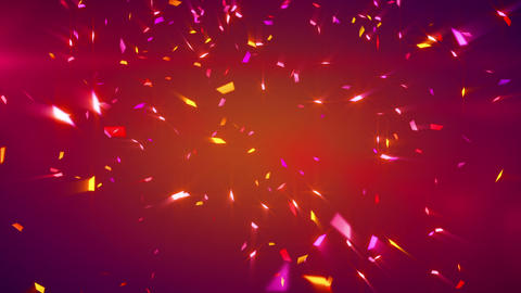 red shiny confetti background loop Animation