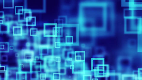 blue squares abstract loopable background Stock Video Footage