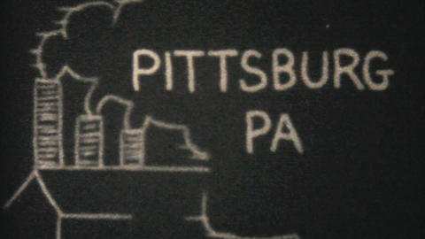 City Of Pittsburg Pennsylvania 1940 Vintage 8mm Stock Video Footage
