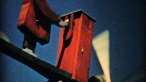 Crazy Antique Weathervane 1940 Vintage 8mm film Stock Video Footage