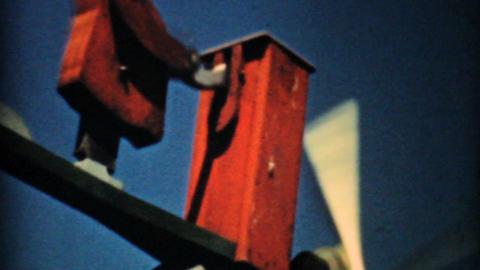 Crazy Antique Weathervane 1940 Vintage 8mm film Stock Video Footage