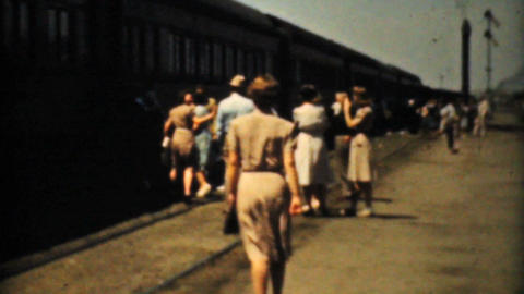 People Taking A Cross Country Train Trip 1940 Film stock footage