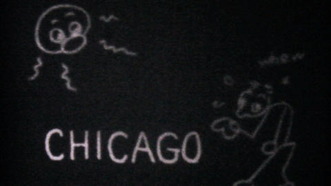 The Famous L Train In Chicago 1940 Vintage 8mm Stock Video Footage