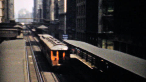 The Famous L Train In Chicago 1940 Vintage 8mm ビデオ