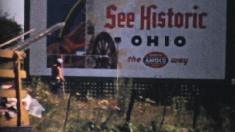 Visiting Historic Cleveland Ohio 1940 Vintage 8mm Stock Video Footage