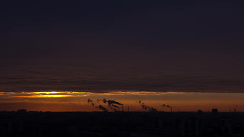 Smoke Sunrise 4k 24fps Stock Video Footage