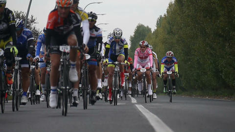 Bicycle Race Stock Video Footage
