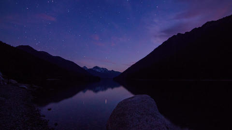 Motion dolly day to night shot at Duffey Lake Stock Video Footage