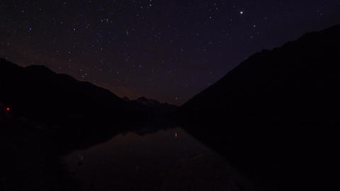 Motion dolly day to night shot at Duffey Lake Footage