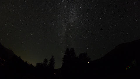 Time lapse night sky with milky way Stock Video Footage