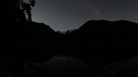 Night sky time lapse at Joffrey Lake Footage
