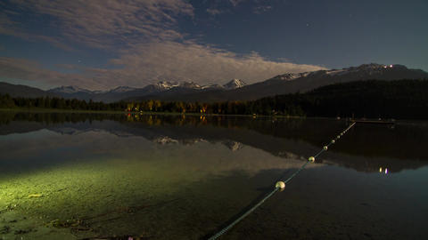 Time lapse of night clouds at Alta Lake Footage