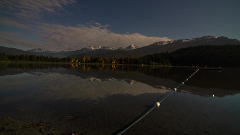 Time lapse of night clouds at Alta Lake Stock Video Footage