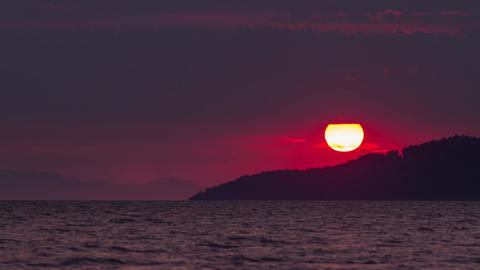 Sunset by the ocean Stock Video Footage