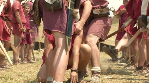 legionary punishment 03 Stock Video Footage