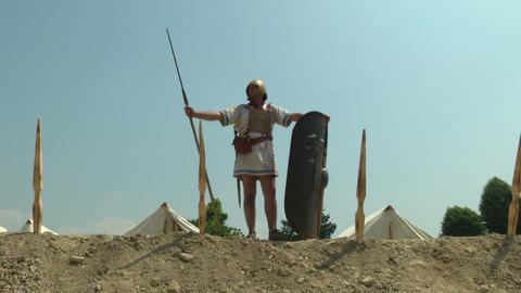 roman camp legionary 02 Footage