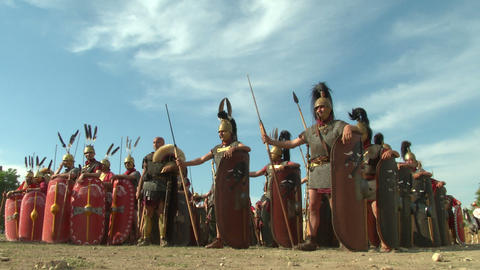 roman legion 01 Stock Video Footage