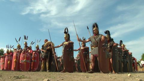 roman legion 01 Footage