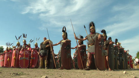 roman legion 01 Stock Video Footage