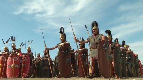 roman legion 03 Stock Video Footage