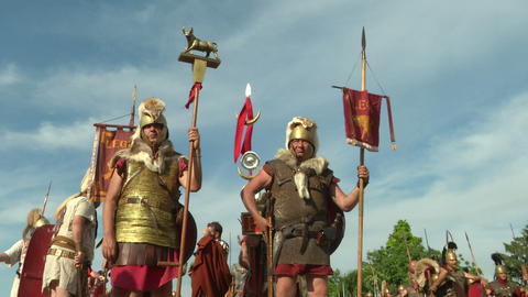 roman legion 11 Stock Video Footage