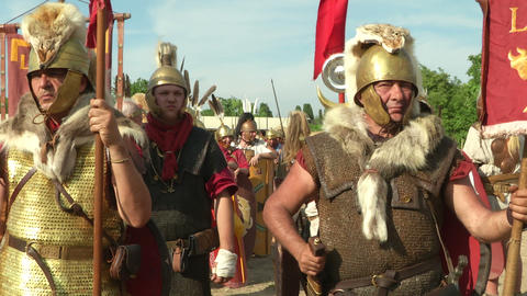 roman legion 13 Stock Video Footage