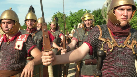 roman legion 15 Stock Video Footage