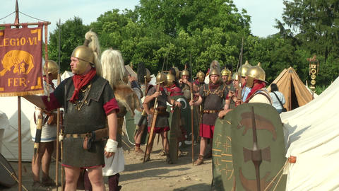 roman legion camp 01 Footage