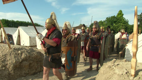 roman legion marching 01 Footage
